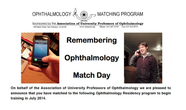 Remembering Ophthalmology Residency Match Day - EyeSteve com