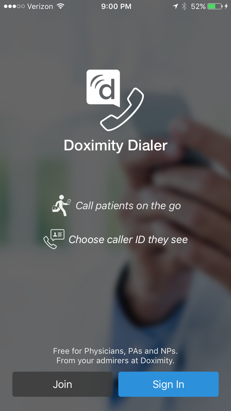 Step 1 - Doximity Dialer